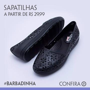 Sapatilhas a partir de R$ 29,99 #barbadinha