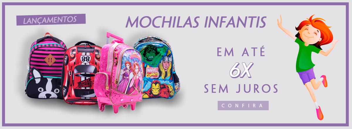 Mochilas Infantis em até 6x sem juros