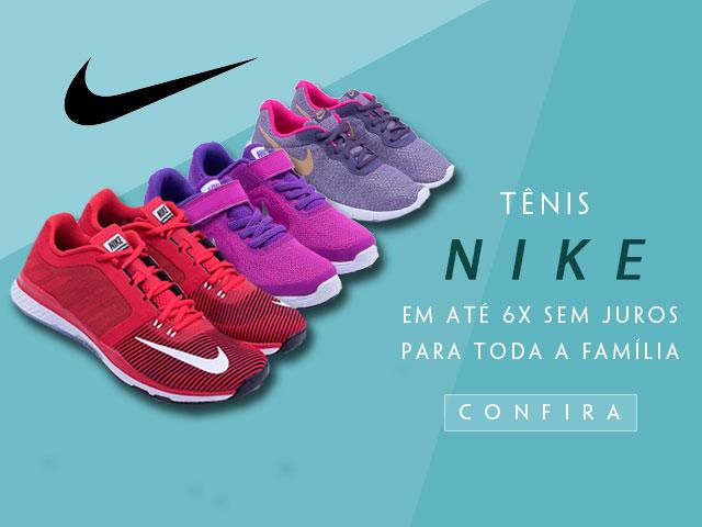 Tênis Nike em até 6X sem Juros