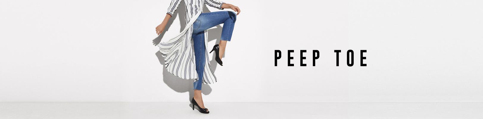 Sapatos Femininos da Dumond e Sapato Peep Toe