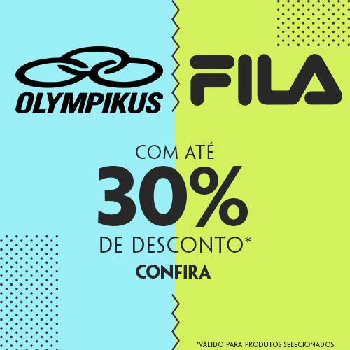 Linha Olympikus e Fila com até 30% de desconto