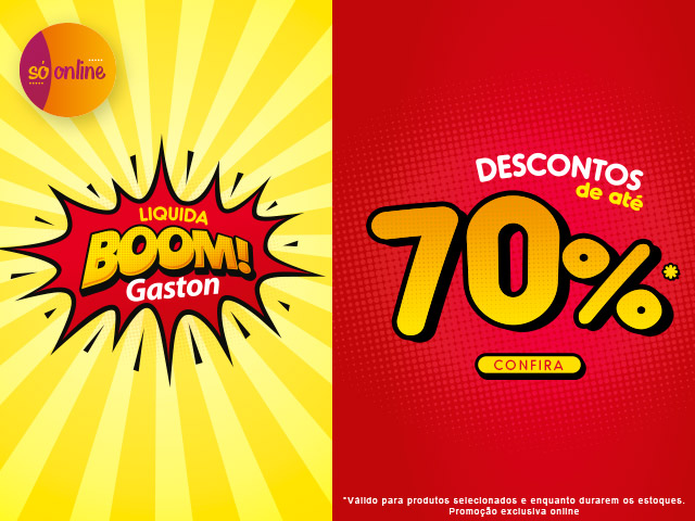 Liquida Boom até 70% de desconto