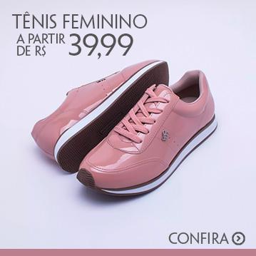 Tênis Femininos a partir de R$ 39,99
