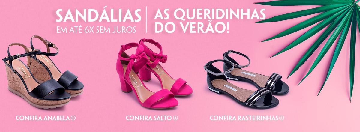 Sandálias em até 6x sem juros As queridinhas do verão!