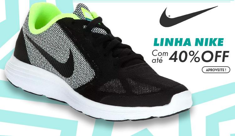 Linha Nike com até 40% off
