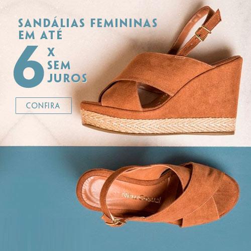 Sandálias em até 6x sem juros